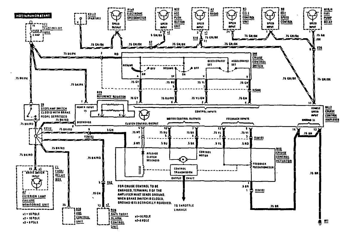 mercedes-benz 560sel  1990  - wiring diagrams