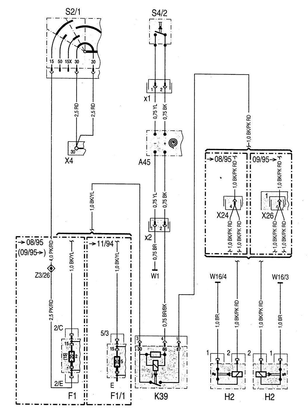 mercedes benz vito wiring diagram mercedes-benz c220 (1994 - 1996) - wiring diagrams - horn ... mercedes benz c220 wiring