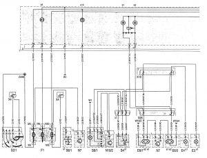 Mercedes-Benz C220 - wiring diagram - instrumentation (part 1)