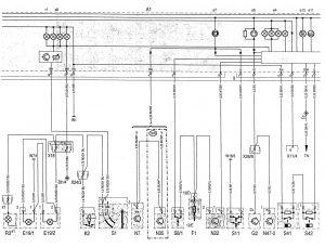 Mercedes-Benz C220 - wiring diagram - instrumentation (part 2)