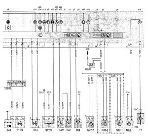 Mercedes-Benz C220 - wiring diagram - instrumentation (part 3)