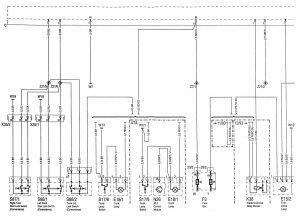 Mercedes-Benz C220 - wiring diagram - power locks (part 1)