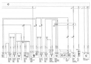 Mercedes-Benz C220 - wiring diagram - power locks (part 2)