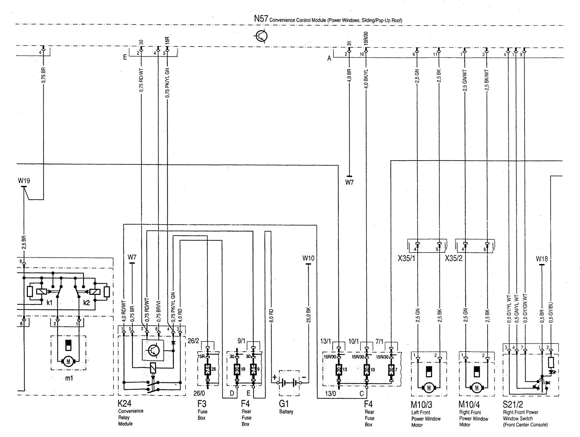 Mercedes Benz C280 1994 1997 Wiring Diagrams Sunroof Chrysler Town Country Diagram C220 Part 2