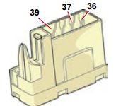 Citroen C4 - fuse box diagram - under dashboard