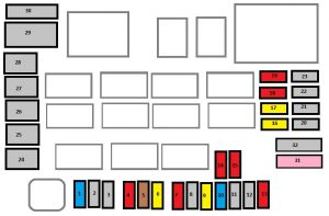 Citroen C4 Aircross - fuse box diagram - engine compartment