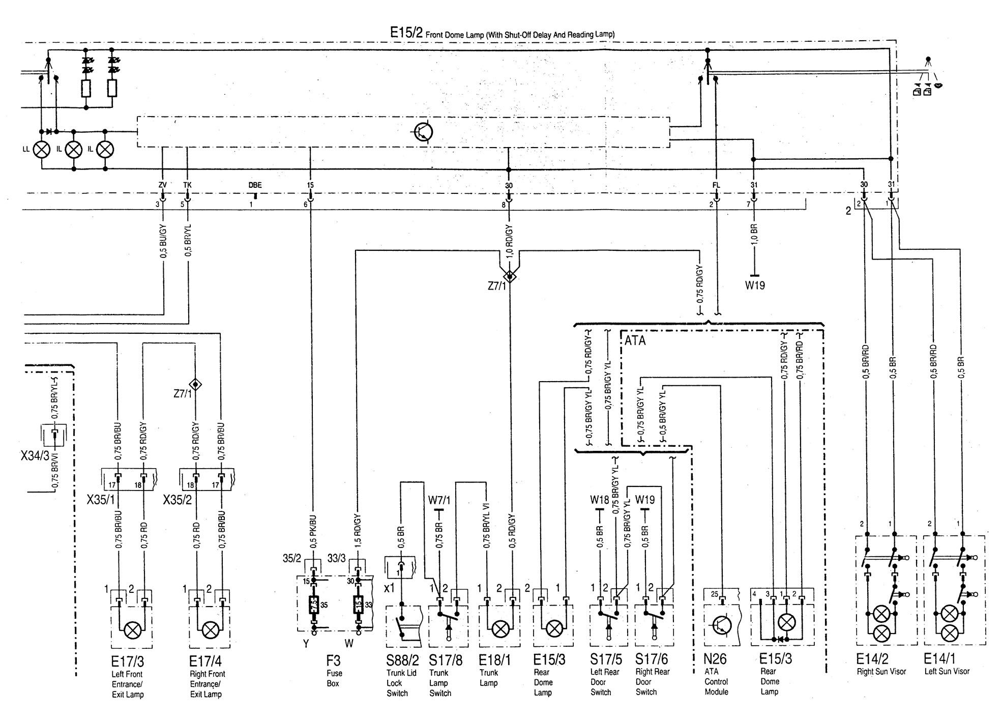 Mercedes Benz C220 Wiring Electrical Diagrams Diagram C180 1994 1996 Exterior 2011 C Class 4 Door