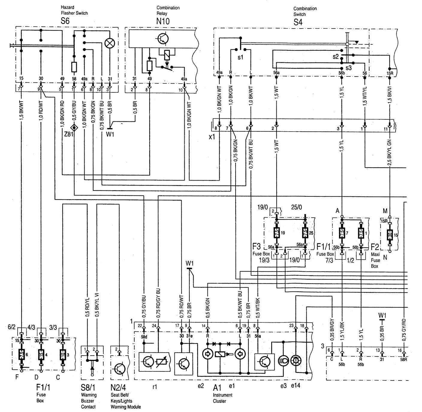 Mercedes Benz C280 1994 1997 Wiring Diagrams Interior Diagram C220 Lighting Part 1
