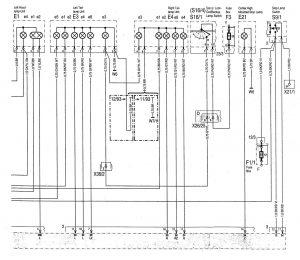 Mercedes-Benz C220 - wiring diagram - interior lighting (part 3)