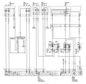 Mercedes-Benz C220 - wiring diagram - interior lighting (part 4)