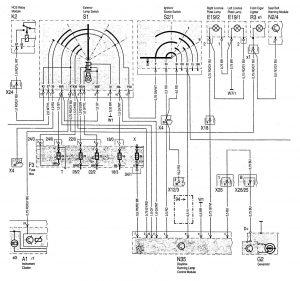 Mercedes-Benz C220 - wiring diagram - interior lighting (part 5)