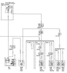 Mercedes-Benz C220 - wiring diagram - interior lighting (part 6)