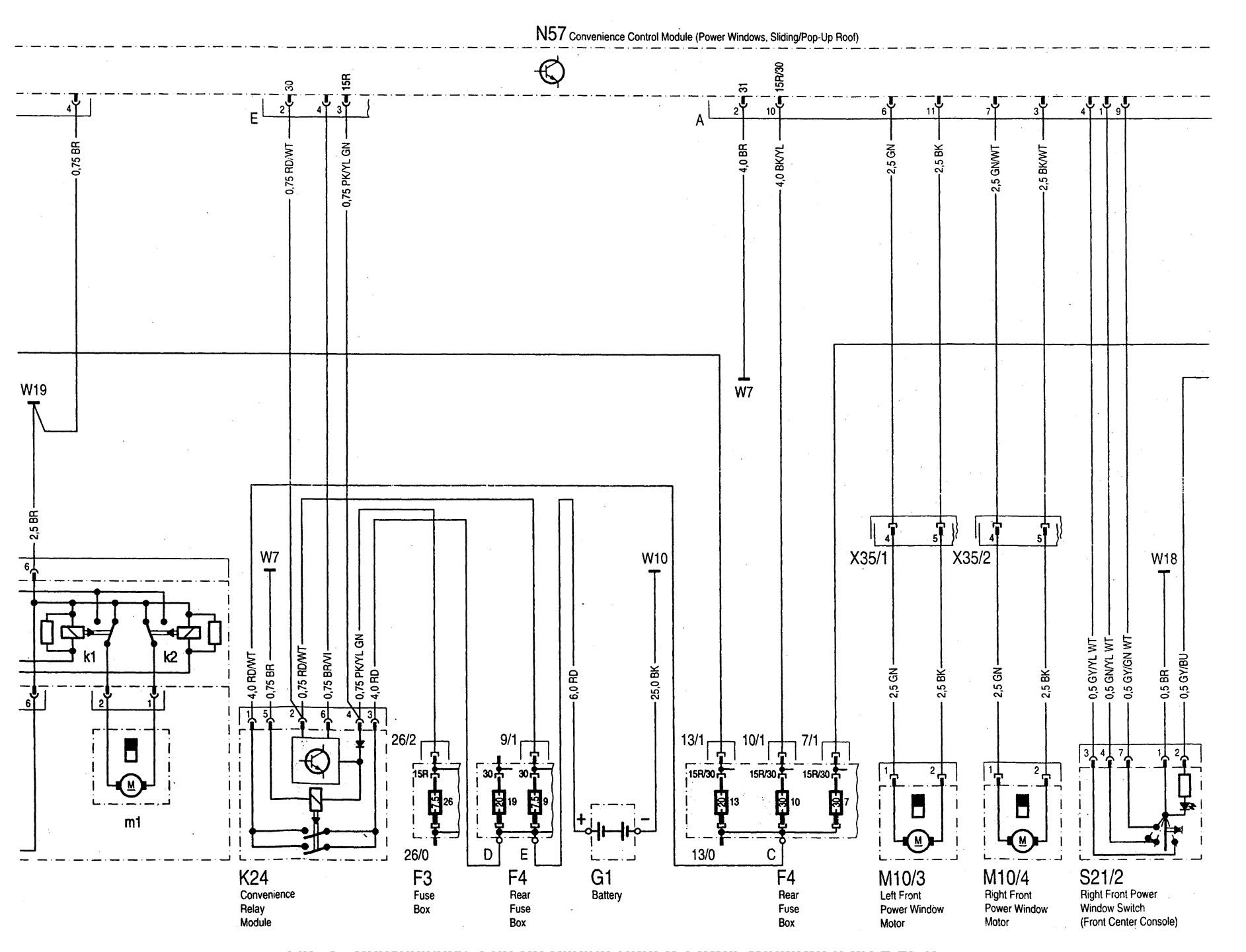 Mercedes Benz C280 1997 Wiring Diagrams Power Windows C220 Diagram Part 2