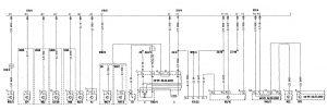 Mercedes-Benz C280 - wiring diagram - computer data lines
