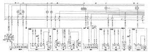 Mercedes-Benz C280 - wiring diagram - instrumentation (part 1)