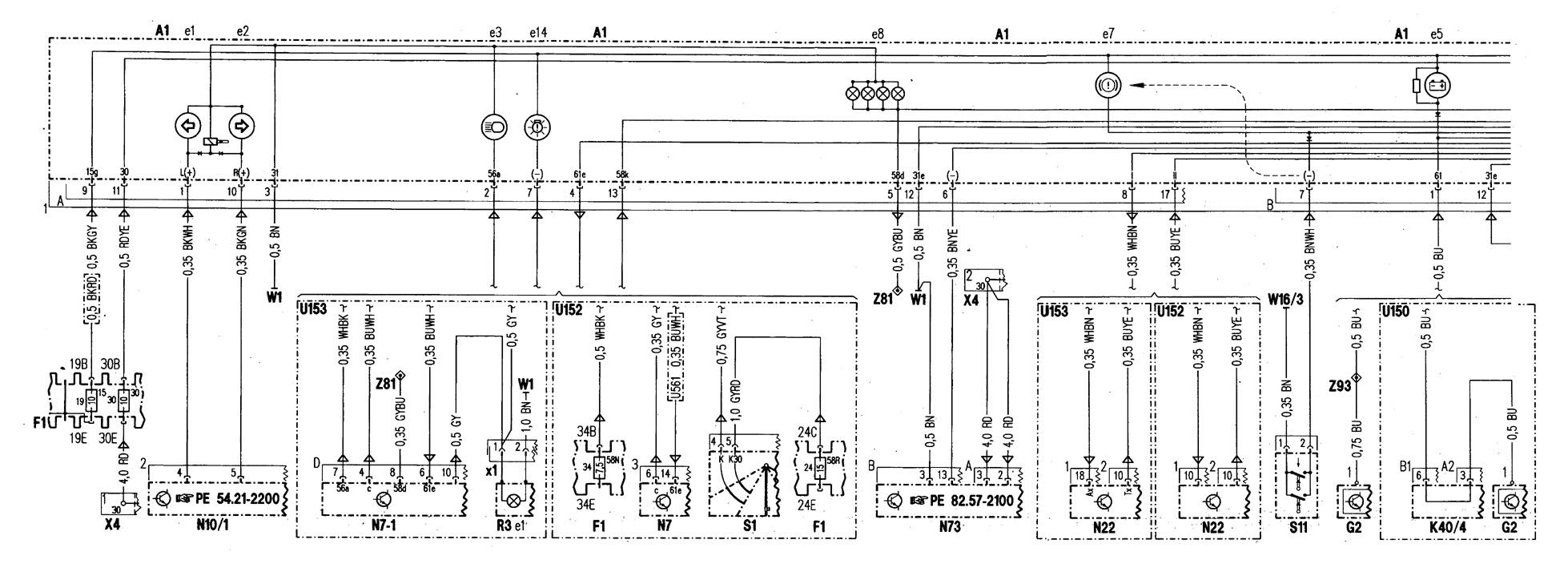 Mercedes Benz C280 1998 Wiring Diagrams Instrumentation Engine Diagram Part 1