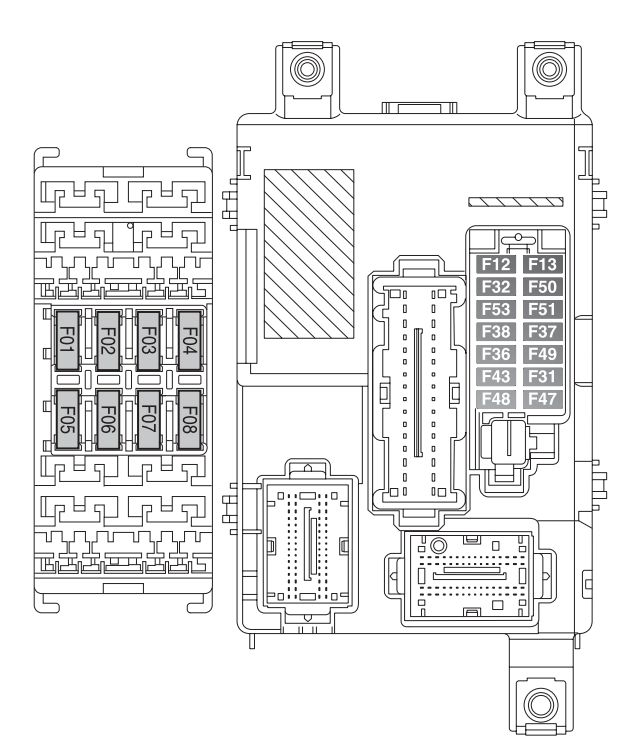 Fiat Doblo Combi  Cargo  From 2014   U2013 Fuse Box Diagram