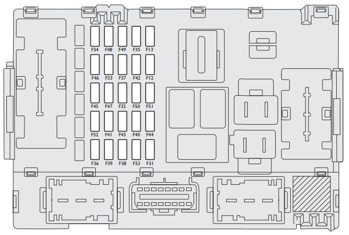 Fiat Linea  2013  U2013 2015   U2013 Fuse Box Diagram