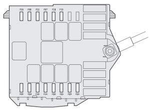 Fiat Linea - wiring diagram - fuse box diagram - engine compartment