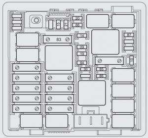 fiat punto 2012 – fuse box – engine compartment