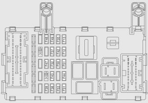 Fiat Strada – fuse box diagram – passenger compartment