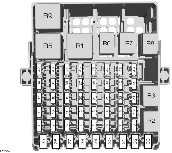 Ford B-max  From 2012   U2013 Fuse Box Diagram
