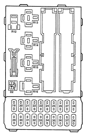 Ford Contour (1996 – 2000) – fuse box diagram - Carknowledge.infoCarknowledge.info
