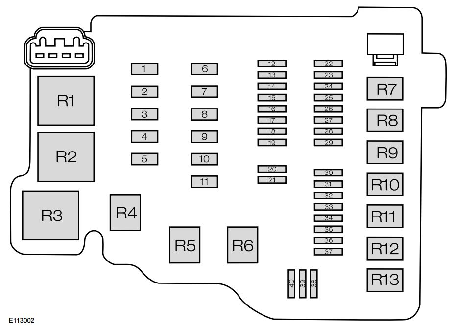 Ford Ecosport  From 2013   U2013 Fuse Box Diagram  India Version