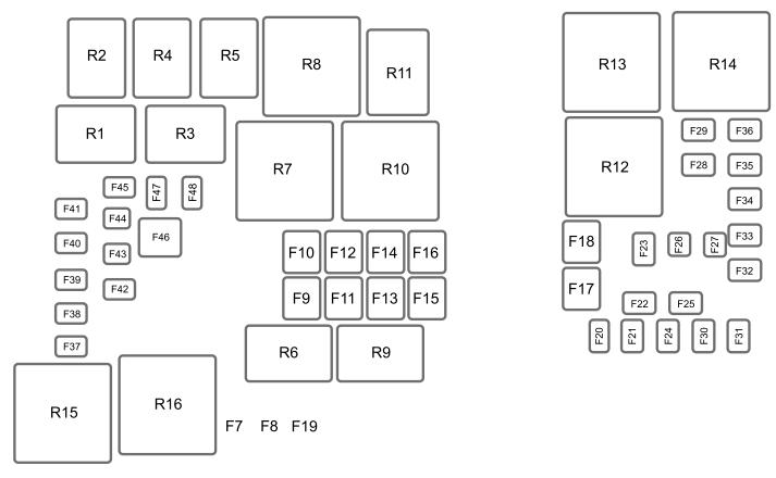 ford escape  2012 - 2016   u2013 fuse box diagram
