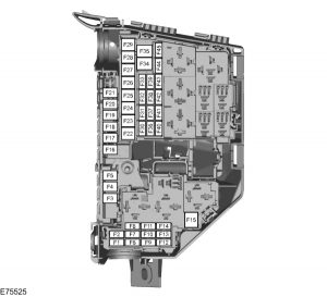 Ford Focus mk2 (2006) – fuse box – engine compartment – (EU version)