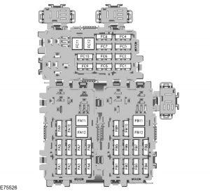 Ford Focus mk2 (2006) – fuse box – rear compartment – (EU version)