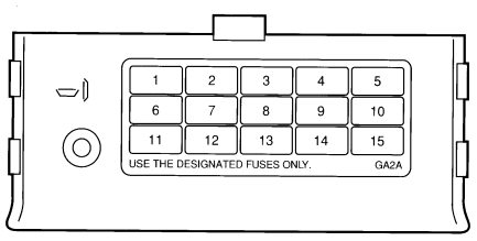 Ford Probe Wiring Diagram Fuse Box Diagram Passenger Compartment