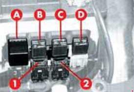 Alfa Romeo 145 – fuse box diagram – additional fuses (T.SPARK)