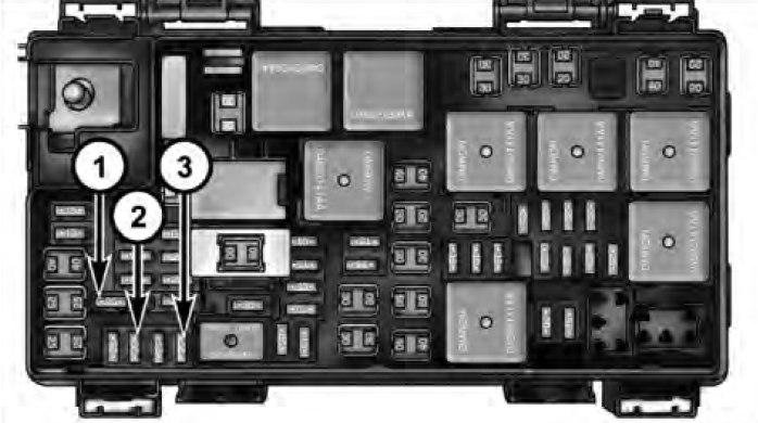 Dodge Grand Caravan  2014  U2013 2016   U2013 Fuse Box Diagram