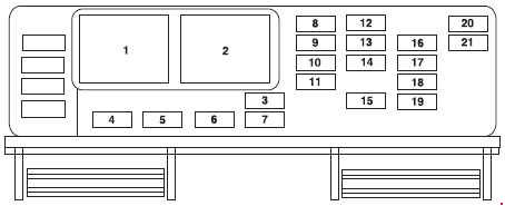 Ford Freestar (2003 – 2007) – fuse box diagram - Carknowledge.infoCarknowledge.info