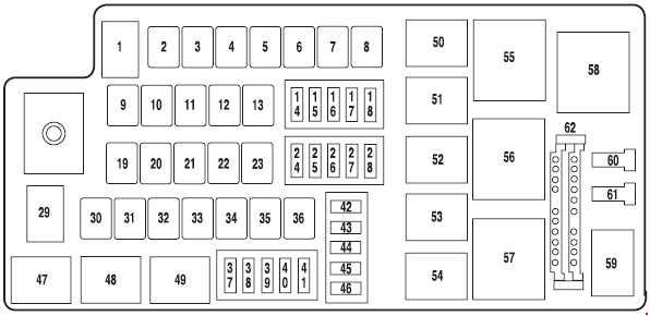Ford Fresstyle  2004  U2013 2007   U2013 Fuse Box Diagram