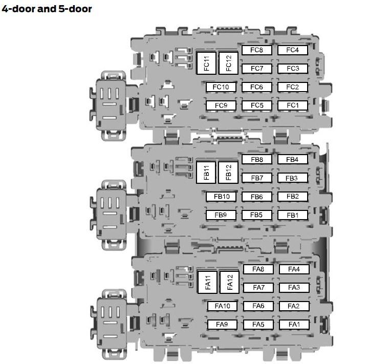 Ford Mondeo Mk4  01  02  2007  U2013 19  08  2007   U2013 Fuse Box Diagram  Eu Version