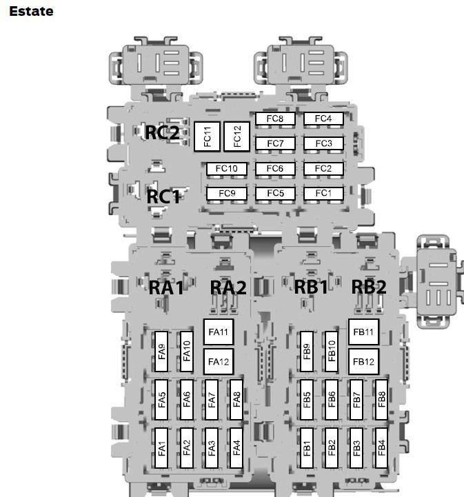 Ford Mondeo Mk4  20  08  2007  U2013 03  02  2008   U2013 Fuse Box Diagram  Eu Version