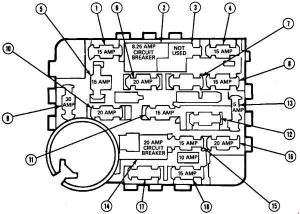 ford mustang  1987  u2013 1993   u2013 fuse box diagram carknowledge