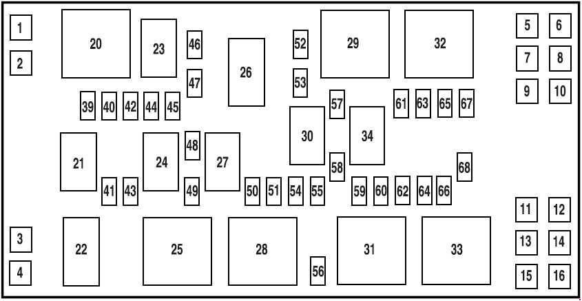 Ford Mustang  2005  U2013 2009   U2013 Fuse Box Diagram
