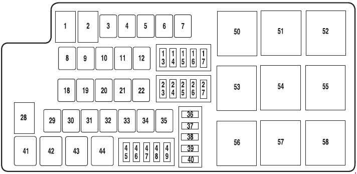 ford mustang  2010  u2013 2014   u2013 fuse box diagram