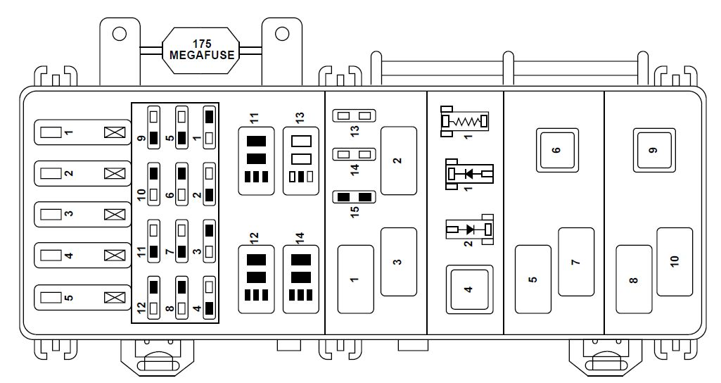 Ford Ranger  2000   U2013 Fuse Box Diagram