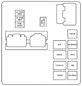 gmc acadia 2009 2010 fuse box diagram carknowledge. Black Bedroom Furniture Sets. Home Design Ideas