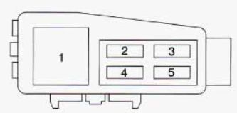 geo prizm – fuse box diagram – engine compartment (passenger's side)