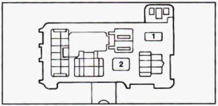 Geo       Prizm     1990     1995      fuse box    diagram     CARKNOWLEDGE