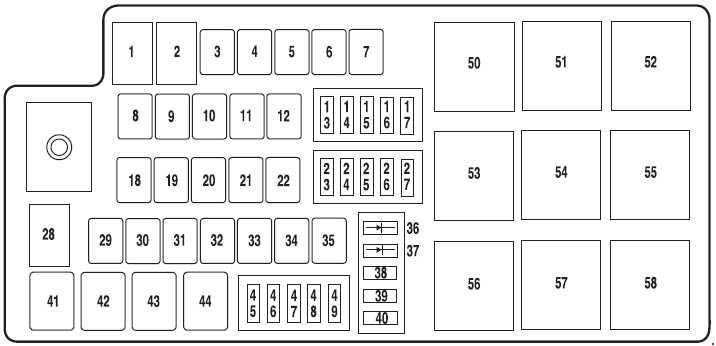 ford taurus  2007  u2013 2009   u2013 fuse box diagram