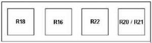 Ford Transit – fuse box diagram – alternative relay box