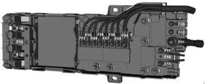 Ford Transit – fuse box diagram – prefuse box (2.0l diesel)