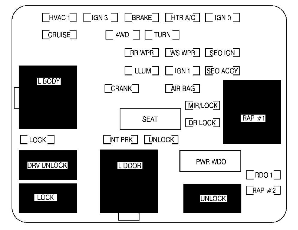 GMC Sierra mk1 (2001 - 2002) - fuse box diagram ...