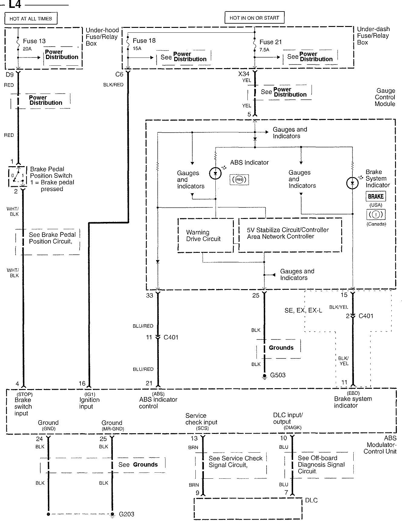 Honda Accord 2006 wiring diagrams ABS CARKNOWLEDGE